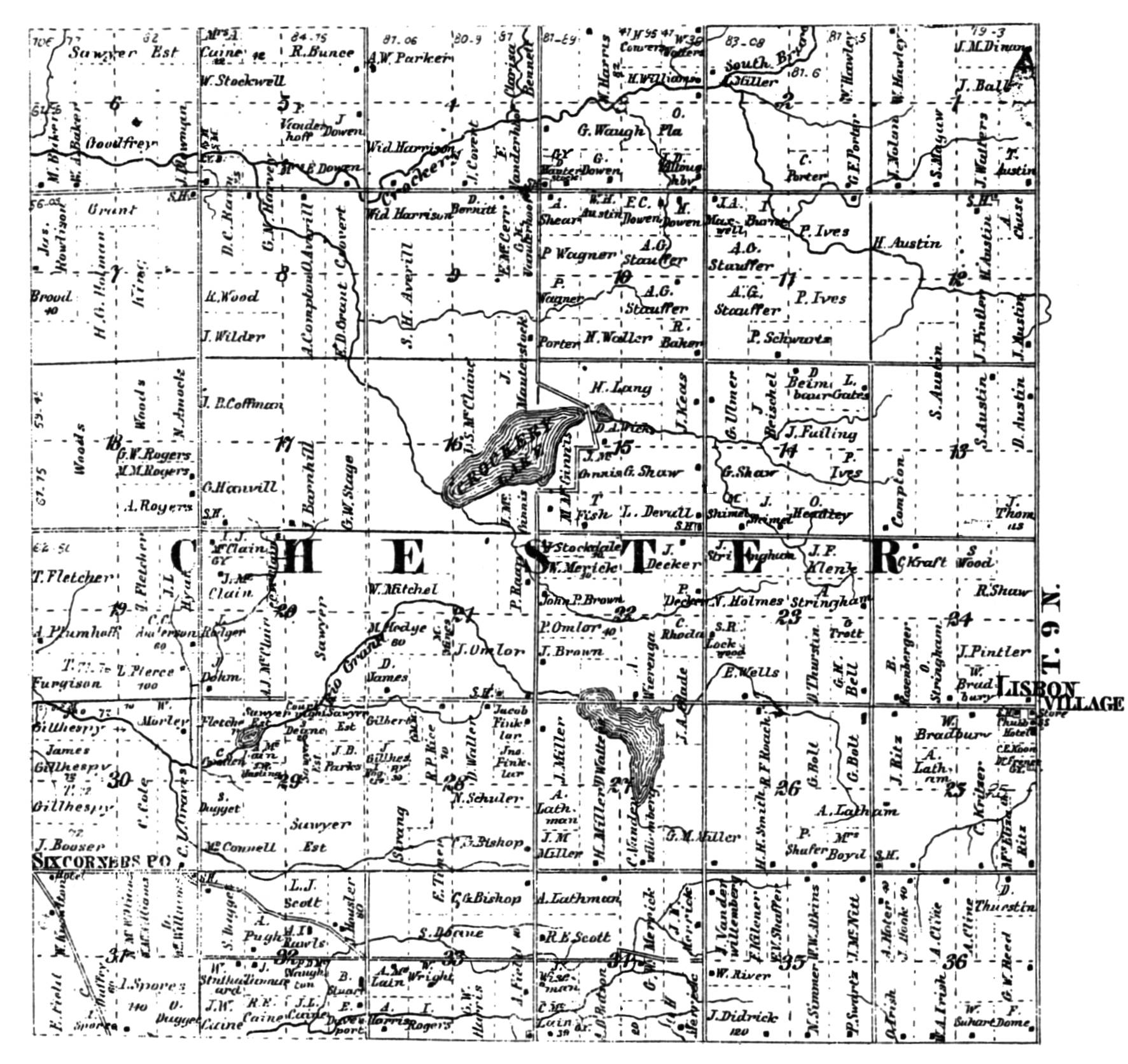 old plat maps —     and . old plat maps      and   chester township