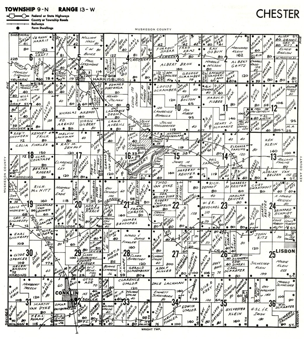 september  . old plat maps      and   chester township